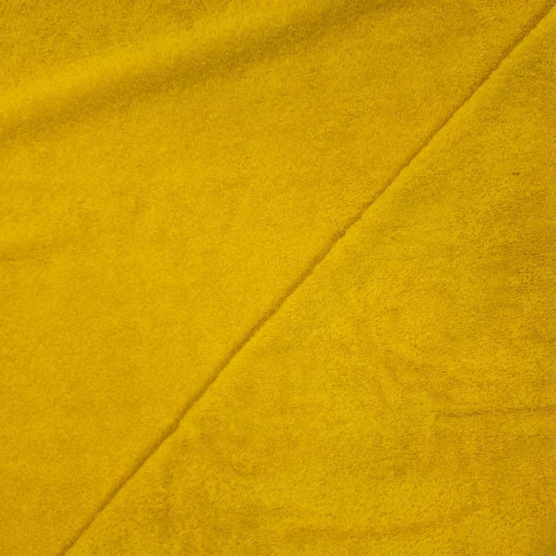 Tissu éponge jaune oekotex - Mercerine.com