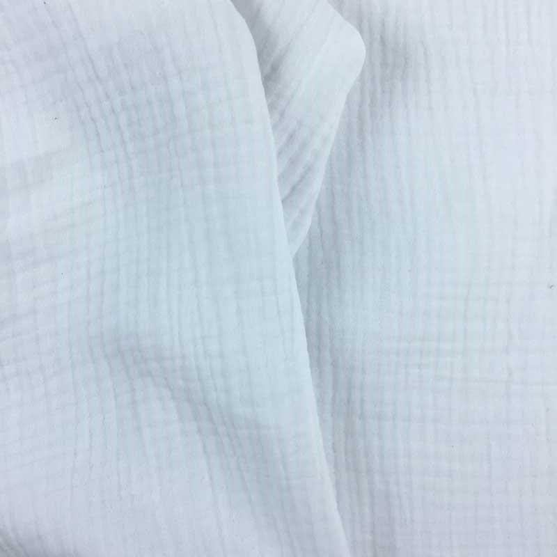 Triple gaze de coton blanc - Mercerine.com