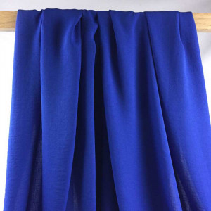 Tissu effet lin bleu roi - par 10cm