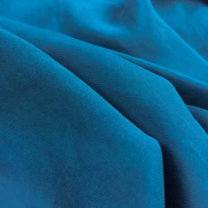 Tissu satiné bleu paon fin - par 10cm