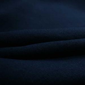 Tissu effet lin bleu marine - par 10cm