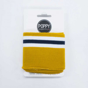Bord côte jaune bleu Poppy Oekotex
