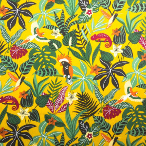 Caraïbes Caraïbes Imprimé Imprimé Coton X10cm Imprimé Coton Coton Jaune Jaune X10cm 35jR4ALq