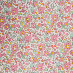 White Pin Dot On Pink by the Half metre cotton needlecord fabric