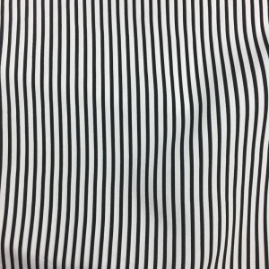 Tissu viscose rayures blanc noir - Mercerine