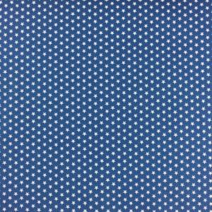 Tissu bleu étoiles blanches - Mercerine.com