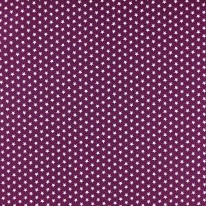 Tissu violet étoiles blanches - Mercerine.com