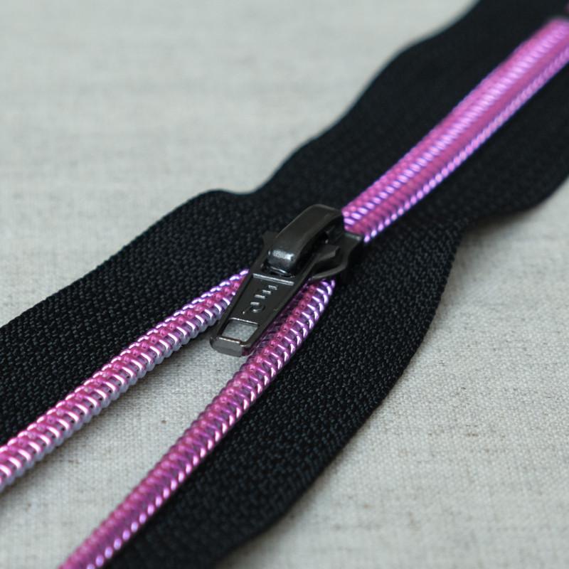 Zip// Fermeture éclair dentelle non séparable de 25 cm Couleur Noir