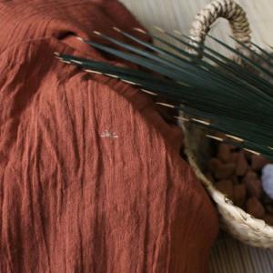 Coton Atelier Brunette Chestnut - crepon de coton - Mercerine tissus et mercerie