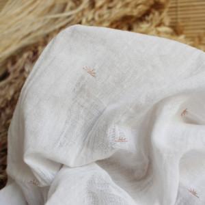 Atelier Brunette Sunset off white Crepon de coton - Mercerine Tissus et mercerie