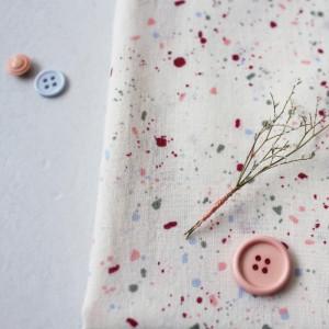 Atelier Brunette Terrazzo Shell Gaze de coton - Mercerine.com Tissus et mercerie