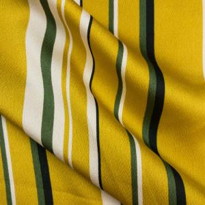Crêpe de satin jaune rayé - Mercerine.com