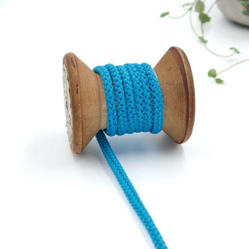 Lacet rond et épais coton 3,5mm Bleu