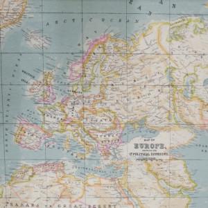 The Metre Carte du monde en tissu Bleu