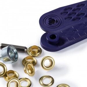Oeillets avec rondelles, or - 5mm et outils de pose Prym