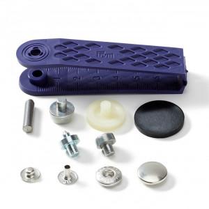 Boutons pression 12mm gris argent Anorak - avec outils de pose