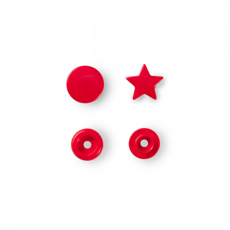 Bouton pression étoile rouge Color Snaps Prym