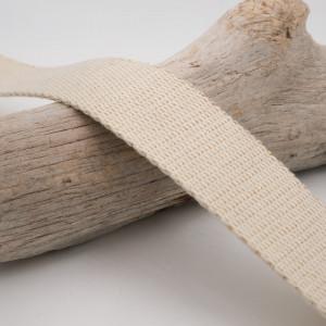 Sangle coton blanc écru 25mm