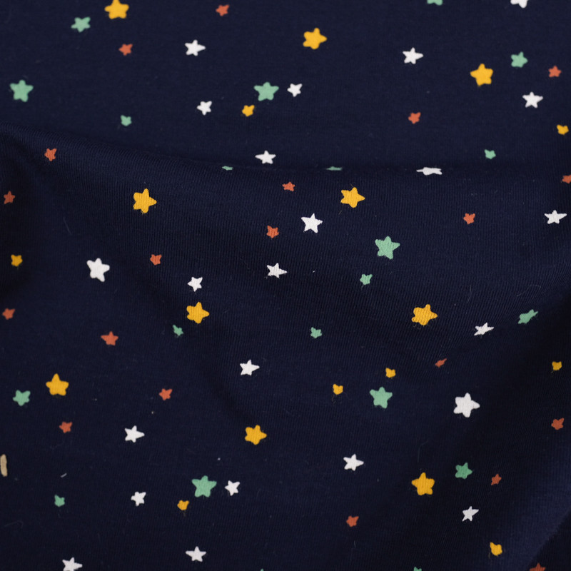 Jersey coton etoiles x10cm