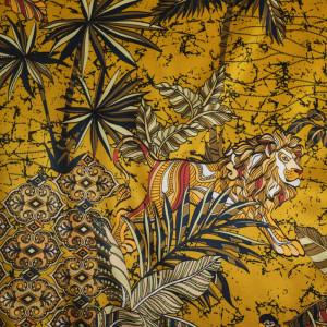Soie tigre jaune x10cm