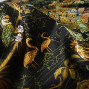 Soie tigre noir x10cm