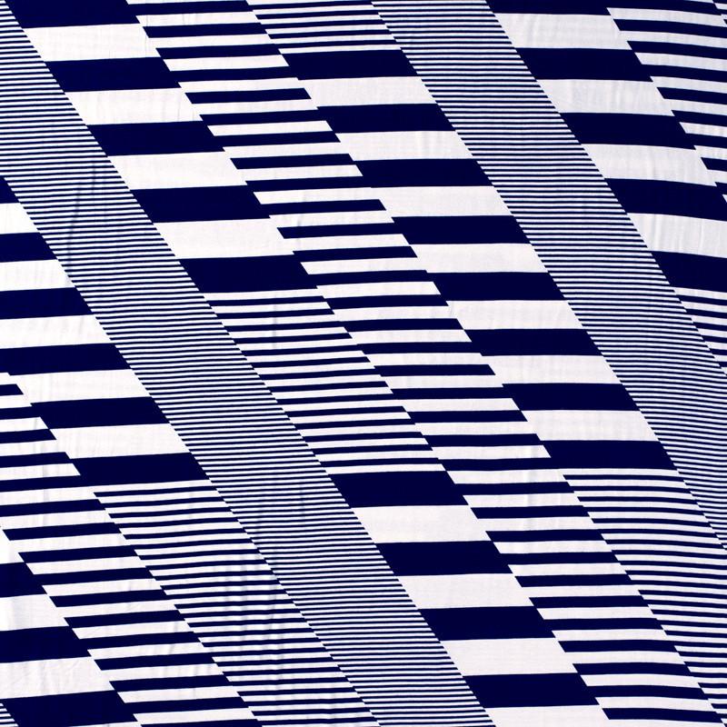 Jersey Viscose multirayures bleu x10cm