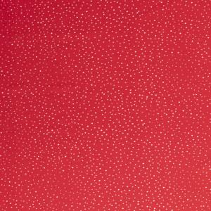 satin petits pois rouge x10cm
