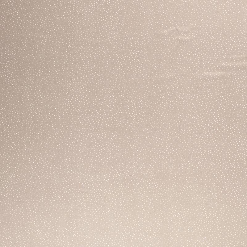 satin petits pois beige x10cm