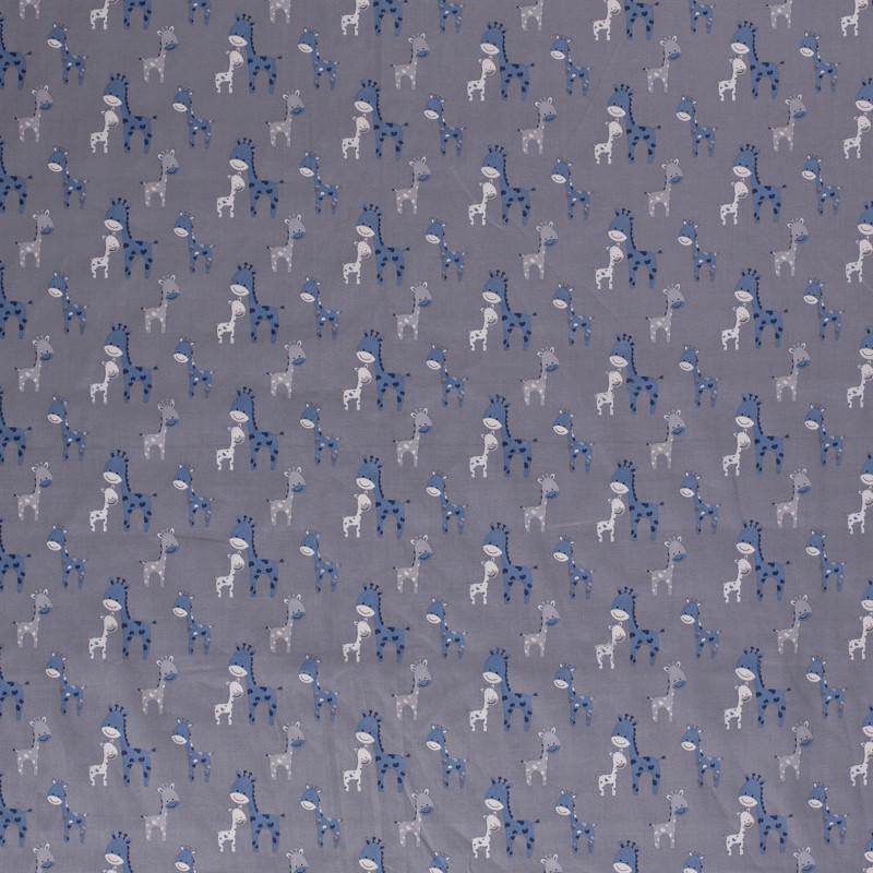 popeLine grise girafon bleu x10cm