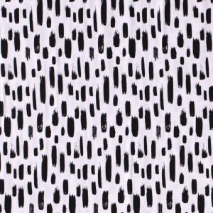 Jersey blanc optique touches noires  x10cm