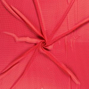 Voile rouge pois blanc x10cm