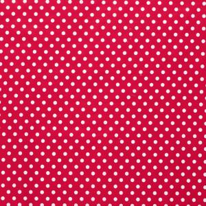 popeLine rouge pois moyens blanc x10cm