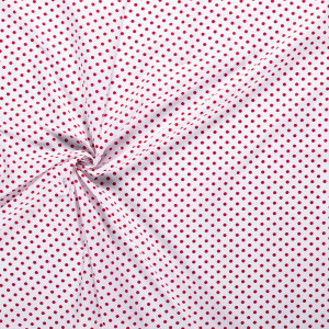 popeLine blanc optique pois moyens rouge x10cm