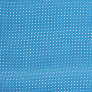 popeLine bleu aqua à petits pois x10cm