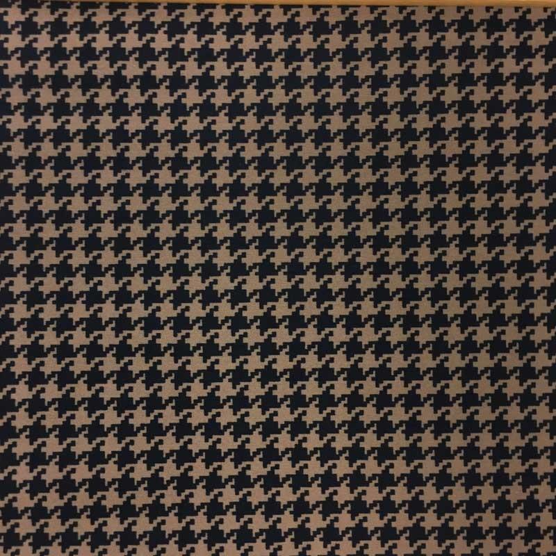 jersey pais pied de coq taupe bleu marine x10cm. Black Bedroom Furniture Sets. Home Design Ideas