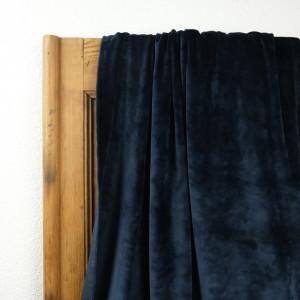 Tissu velours bleu au mètre
