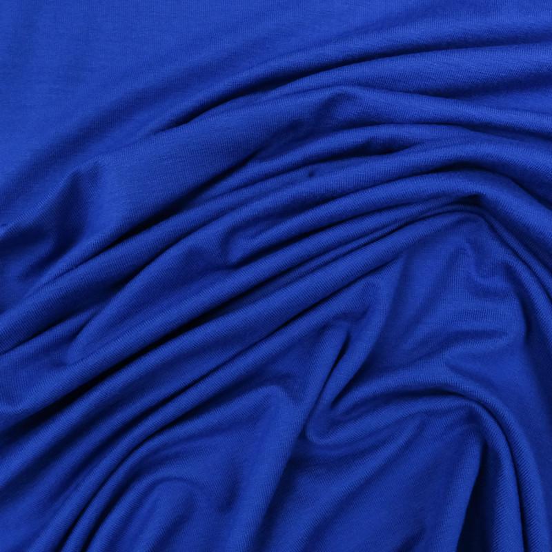 Tissu jersey viscose Bleu royal - Tissu oeko tex  - Mercerine