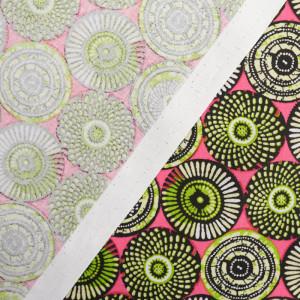 Tissu coton imprimé ethnique Soweto rose