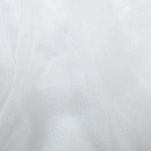 Tissu sport lingerie filet Mesh blanc stretch