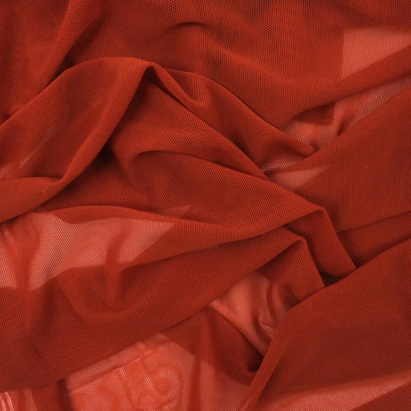Tissu sport lingerie terracotta stretch