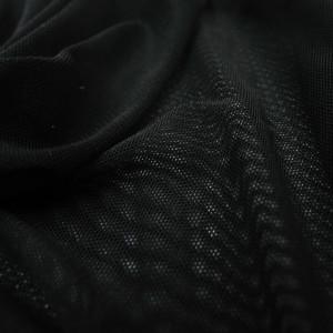Tissu  filet Mesh stretch noir