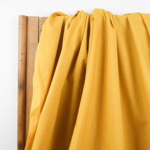 Tissu coton lavé jaune