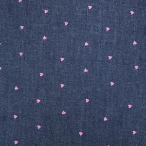 Denim Léger Cœur Violet  - 10cm