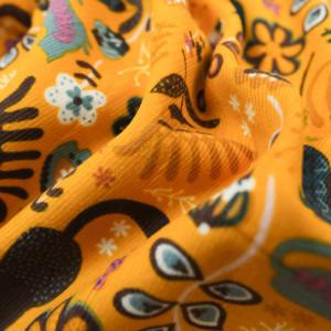 Velours Milleraies jungle colorée jaune - 10cm
