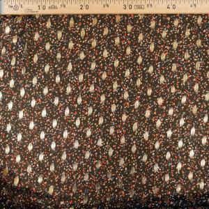 Tissu lurex noir pois colorés