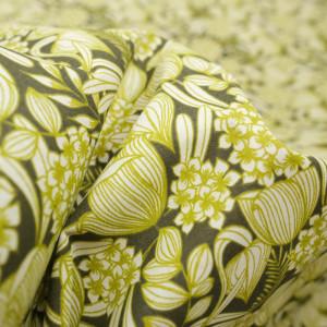 Tissu oeko tex Bethany kaki -Tissu Coton imprimé