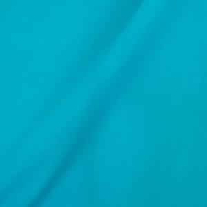 Coton bleu turquoise - percale de coton