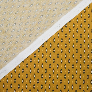 Coton imprimé - Tissu oeko tex Vadym moutarde  - Mercerine