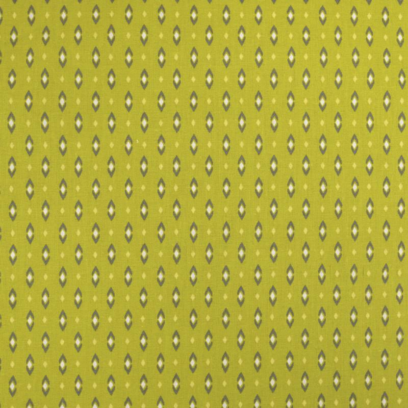 Coton imprimé - Tissu oeko tex Vadym kaki  - Mercerine