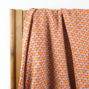 Coton imprimé - Tissu oeko tex Drenec terracotta  - Mercerine